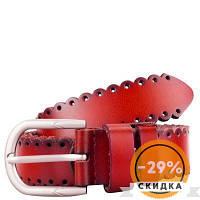 Ремень AMO Женский кожаный ремень Красный