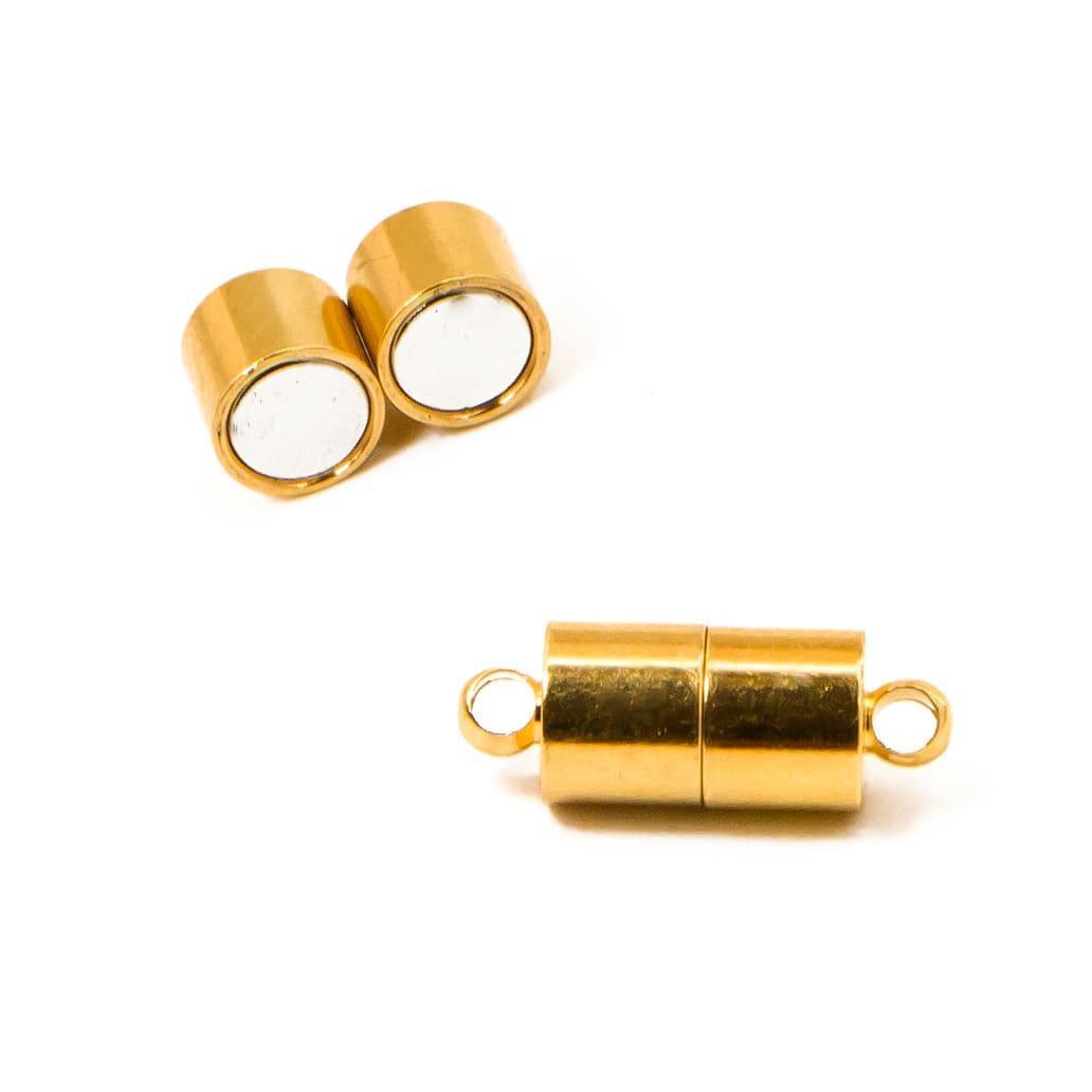 Замок для бус магнитный латунь 5 шт, цвет: золото, размер 16х4 мм, УТ10012226