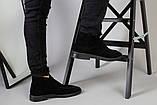 Демисезонные мужские черные замшевые лоферы, фото 6