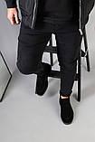 Демисезонные мужские черные замшевые лоферы, фото 9