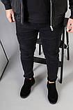 Демисезонные мужские черные замшевые лоферы, фото 10