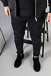 Туфлі чоловічі чорні замшеві лофери, фото 10