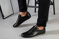 Туфли мужские черные кожаные на шнурках, фото 1