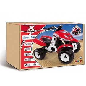 Електромобіль квадроцикл X Power Smoby 33048 червоний, фото 2