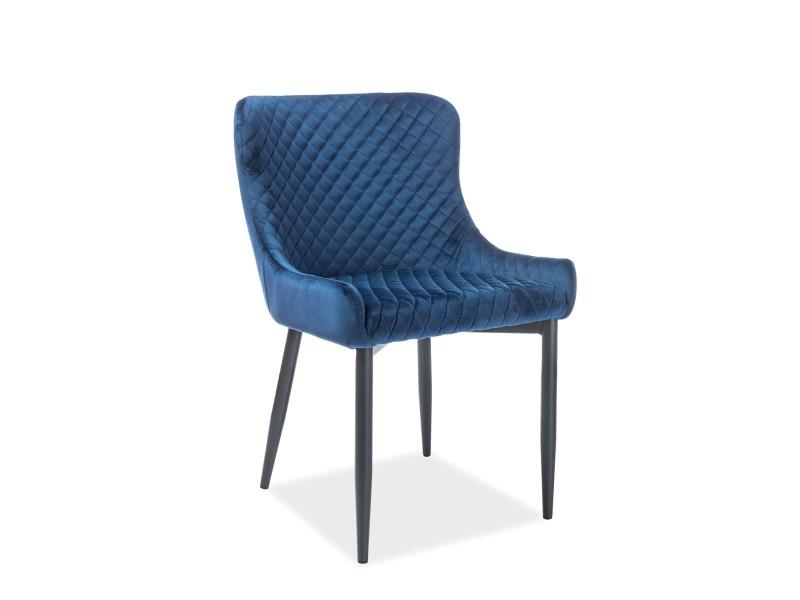 Кресло COLIN B VELVET синий (Signal)