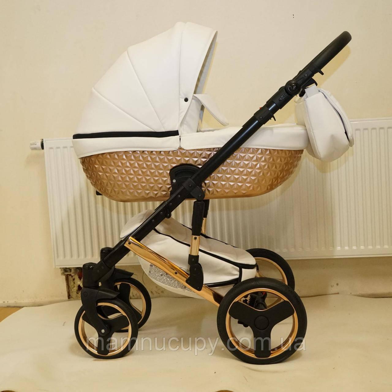 Детская универсальная коляска 2 в 1 Mikrus Specchio 311