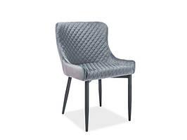 Кресло COLIN B VELVET серый (Signal))