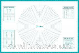 Коврик силиконовый с разметкой, размер 61 см.- 91 см.