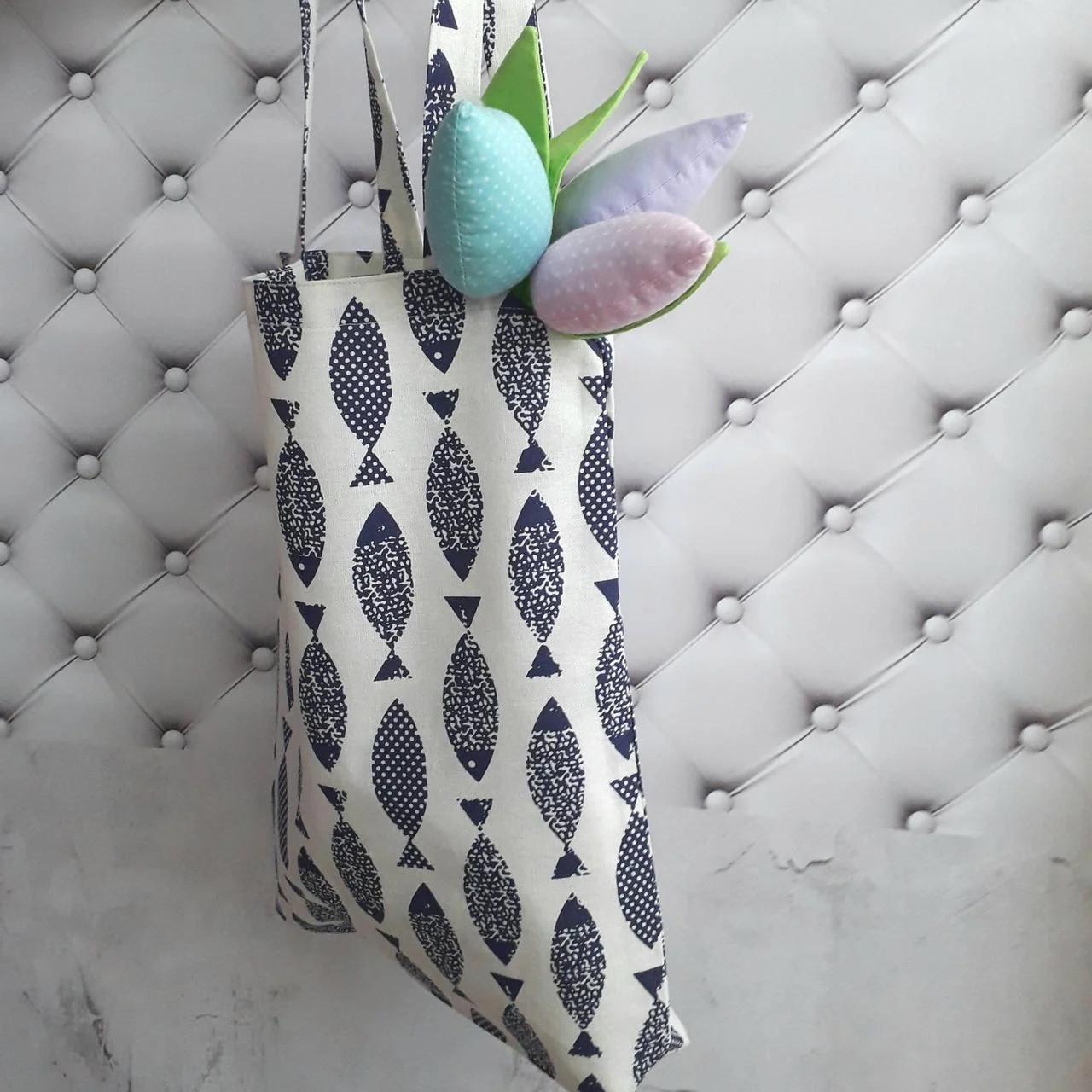 Эко-сумка шоппер хлопок Рыбка