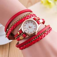 Красивые красные женские часы