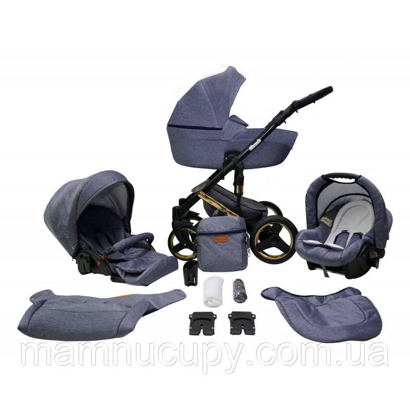 Детская универсальная коляска 2 в 1 Mikrus Comodo Zlota 10