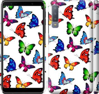 """Чохол на Samsung Galaxy A7 (2018) A750F Барвисті метелики """"4761c-1582-15886"""""""