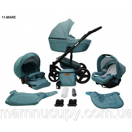 Детская универсальная коляска 2 в 1 Mikrus Comodo Zlota 11