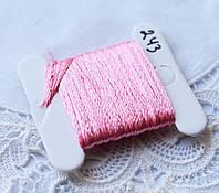 Мулине имитация шелка, 4м, 6 сложений, розовый