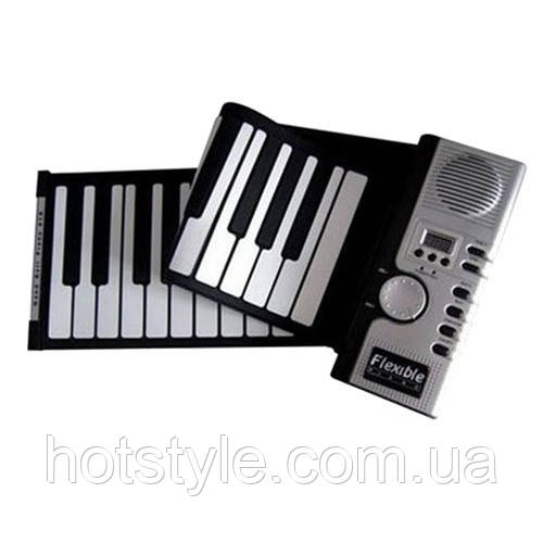 Гибкая MIDI клавиатура, синтезатор, пианино, 61 клавиша