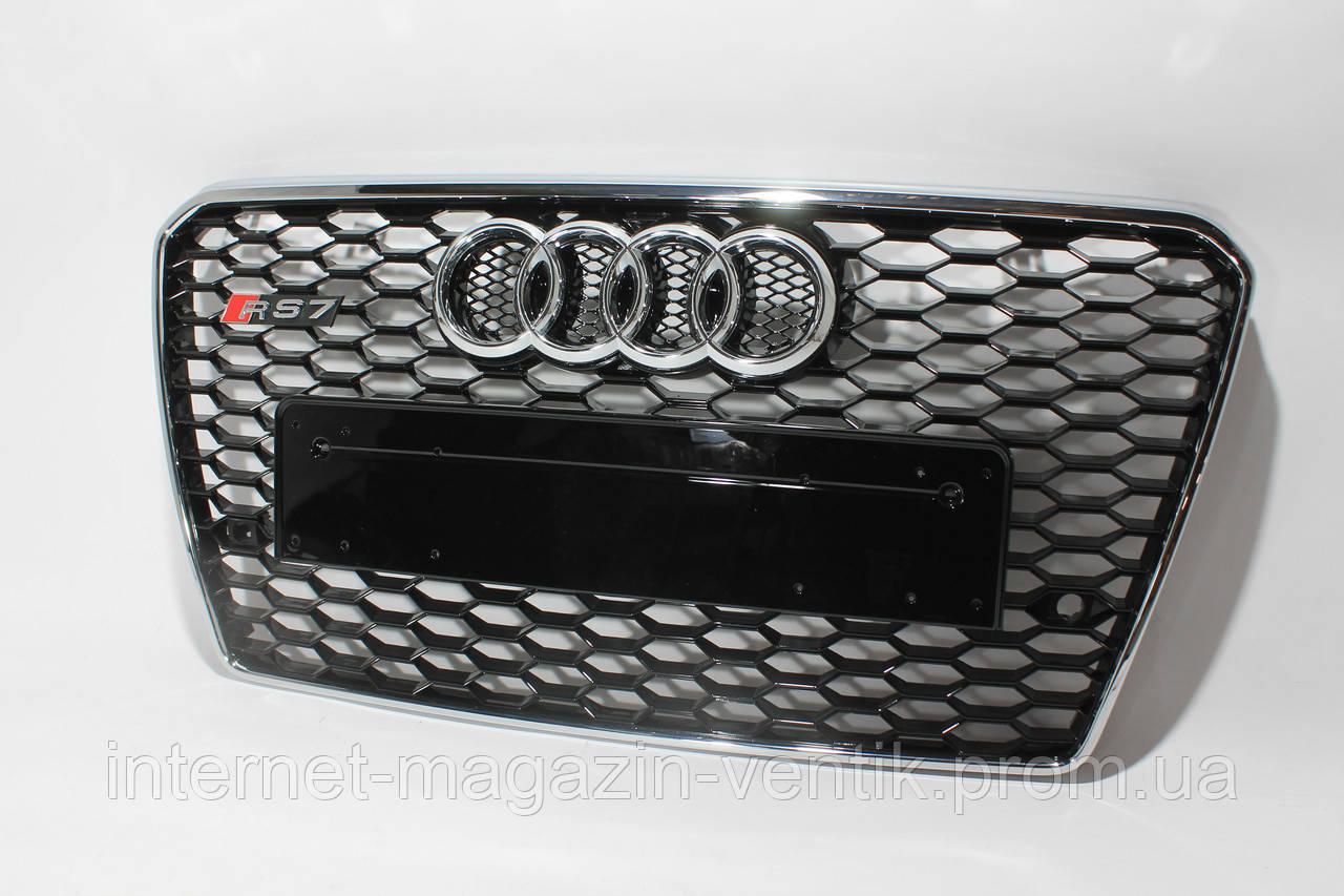 Решетка радиатора стиль Audi RS7 12-15