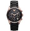 Мужские кварцевые наручные часы Emporio Armani Black, фото 5
