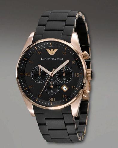 Мужские кварцевые наручные часы Emporio Armani Black