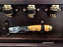 """Подарочный набор для шашлыка """"Казаки"""" (шампура, рюмки, нож, вилка), в буковом кейсе, фото 2"""