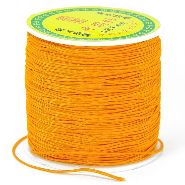 Шнур нейлоновый, для рукоделия, оранжевый, размер 0,8 мм/20 м УТ1009783
