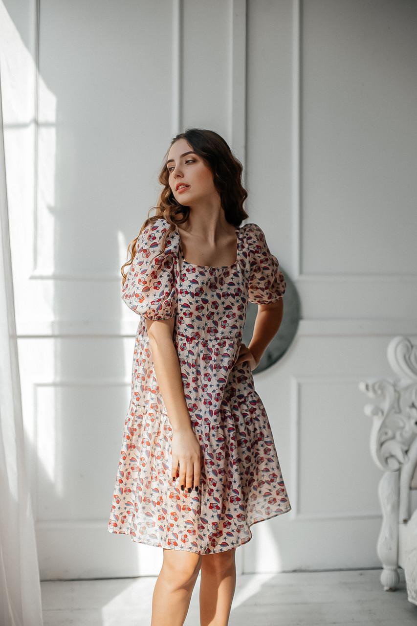 Летнее женское платье короткое