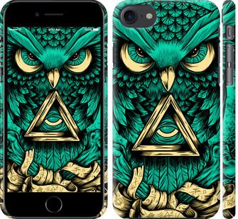 "Чехол на iPhone 7 Сова Арт-тату ""3971c-336-15886"""