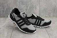 Мужские кроссовки текстильные летние черные-серые CrosSAV 23