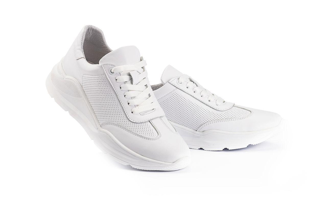 Женские кроссовки кожаные весна/осень белые Brand 040-б