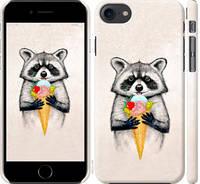"Чехол на iPhone 7 Енотик с мороженым ""4602c-336-15886"""