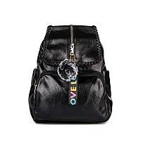 Рюкзак женский черный городской из искусственной кожи Spike