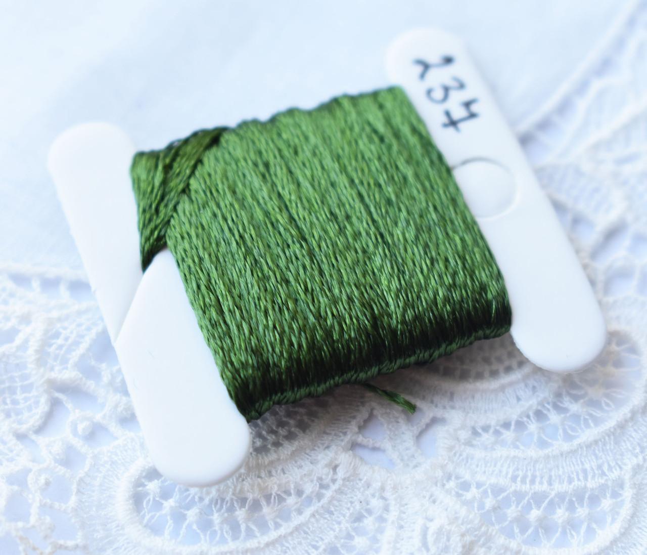 Мулине имитация шелка, 4м, 6 сложений, темно-зеленый