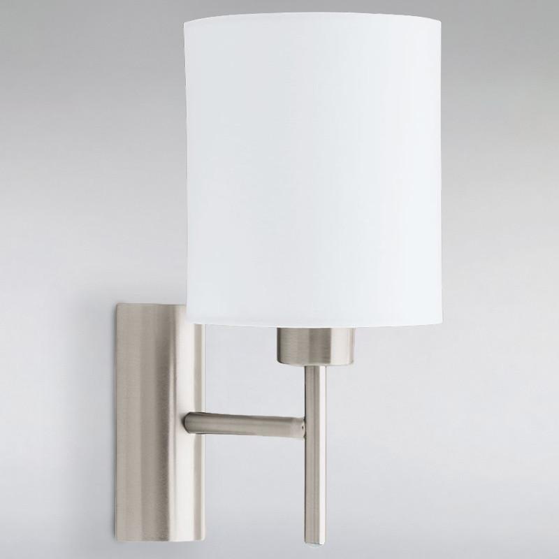Бра настенное LED на одну лампу NM-814758/1W SN+WT E27 TK сатин
