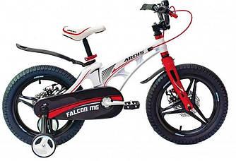 """Велосипед дитячий Ardis FALCON 18"""" колеса на литих дисках і магнієвої рамі Білий"""