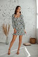 Короткое летнее платье из льна, фото 1