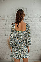 Короткое женское летнее платье из льна, фото 3
