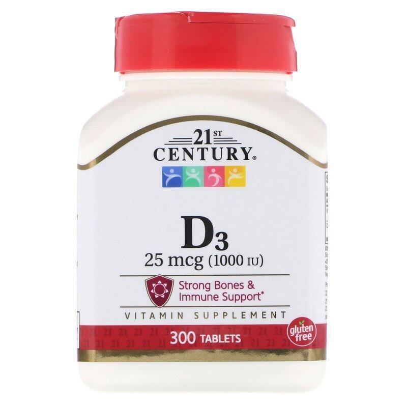Вітаміни VITAMIN D3 25mcg 1000 IU 300 таблеток