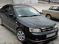 Реснички на фары Chevrolet Lacetti sedan Широкие стеклопластик (под покраску) Orticar