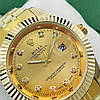Женские кварцевые наручные часы Rolex Date Just Diamonds Gold, фото 2