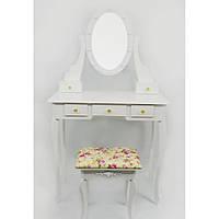 Стол косметический с зеркалом и стулом Bonro B008WL с подсветкой туалетный столик, фото 1