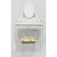 Стіл косметичний з дзеркалом і стільцем Bonro B007W туалетний столик, фото 1