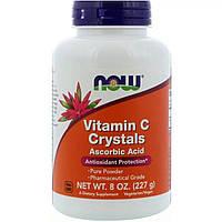 Витамин С, Кристаллы, Vitamin C Crystals, Now Foods, 8 oz (227 гр)