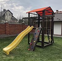 Уличный спортивно - игровой комплекс ДОМИК с горкой и скалолазкой для улицы В-1, фото 1