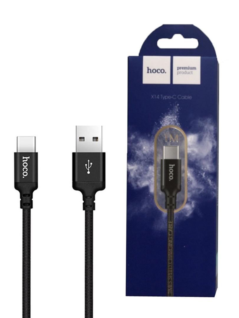 Кабель Hoco X14 Type C to USB (1m) Черный