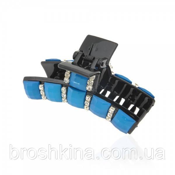 Пластиковый краб с голубыми камнями 9 см