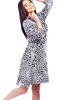 Vikamoda Легка сукня з тваринним принтом 2654