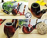 Трубка для курения KAF 226 Bent ручной работы из натурального дерева груши под фильтр 9 мм, фото 3
