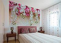 Фотообои Розовые и белые орхидеи