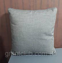 Подушка декоративная серая 46cm x 46cm гусиное перо фабрика ALBERTA (Италия)