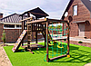 Детский игровой комплекс с рукоходом и качельками В-3