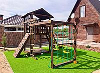 Детский игровой комплекс с рукоходом и качельками В-3, фото 1